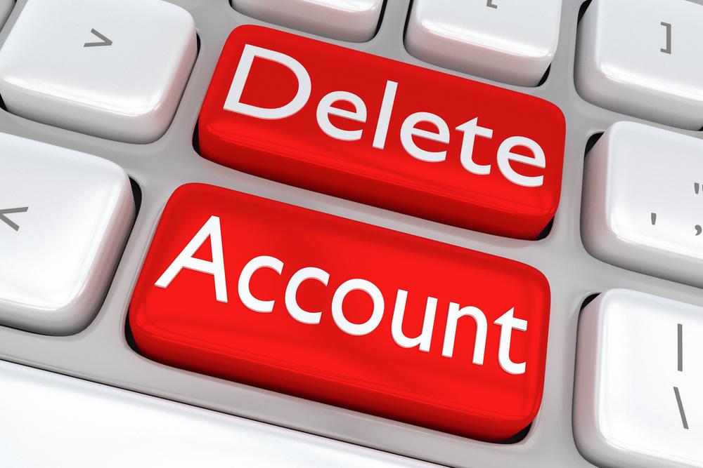 حذف الحسابات الإلكترونية