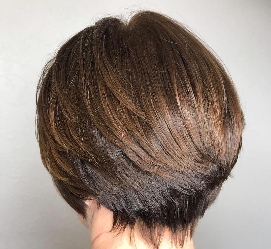 الشعر الأسود مع الهايلايت البني الفاتح