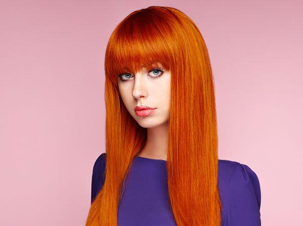 صبغات شعر لون أحمر