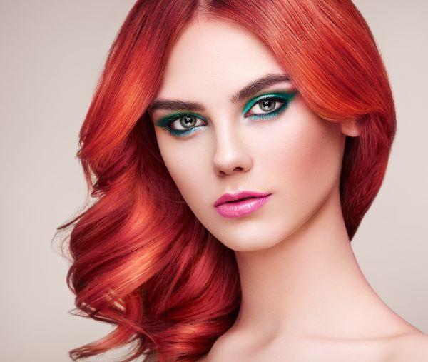 صبغات شعر أحمر
