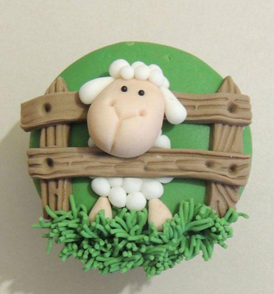 حلوى بعجينة السكر خروف العيد