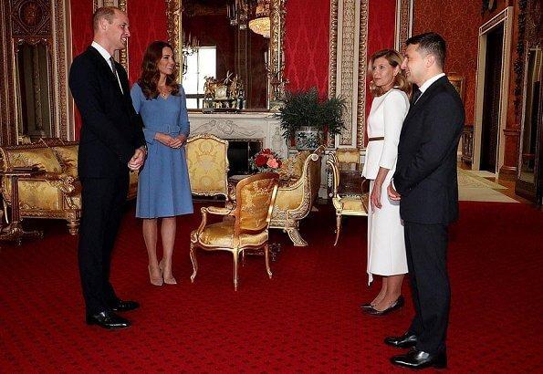 كيت وويليام في إستقبال الرئيس الأوكراني وزوجته- الصورة من موقع New my royals