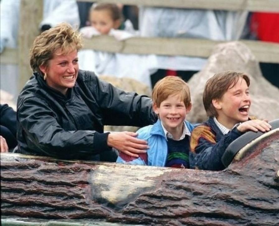 الأميرةديانا مع ويليام وهاري- الصورة من حساب الأميرة ديانا على إنستغرام