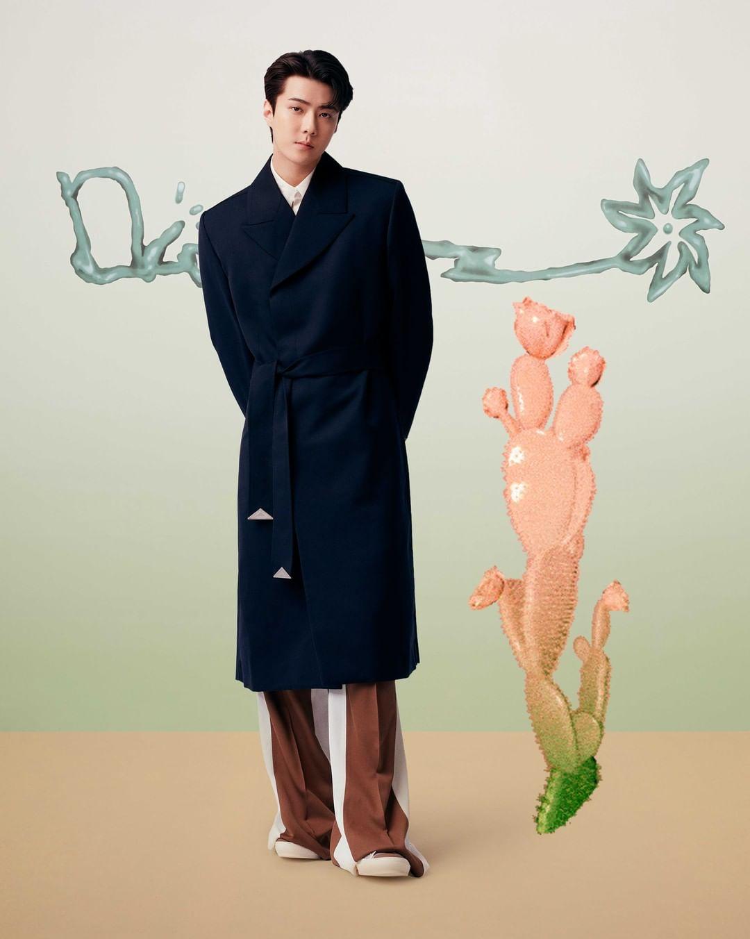 سروال فضفاض من Dior، الصورة من انستغرام ديور