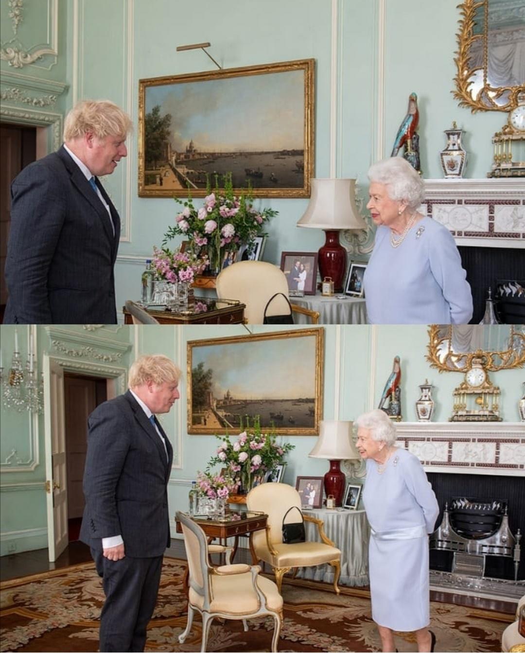 أول لقاء الملكة مع رئيس الوزراء بوريس جونسون- الصورة من حساب الملكة إليزابيث على إنستغرام