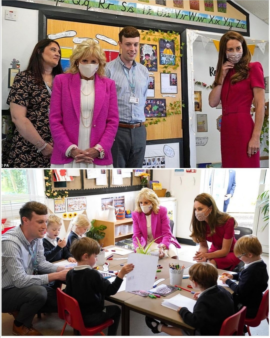 خلال زيارة كيت ميدلتون وجيل بايدن لمدرسة كونور داونز الابتدائية- الصورة من حساب دوق ودوقة كامبريدج على إنستغرام