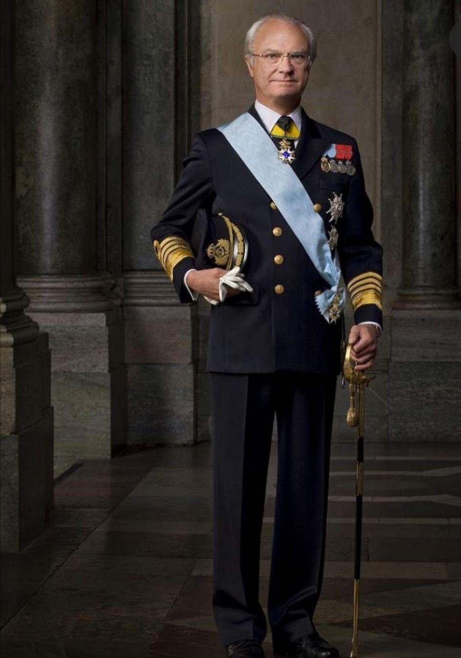 الملك كارل السادس عشر غوستاف - الصورة من حساب The Swedish royal family على إنستغرام