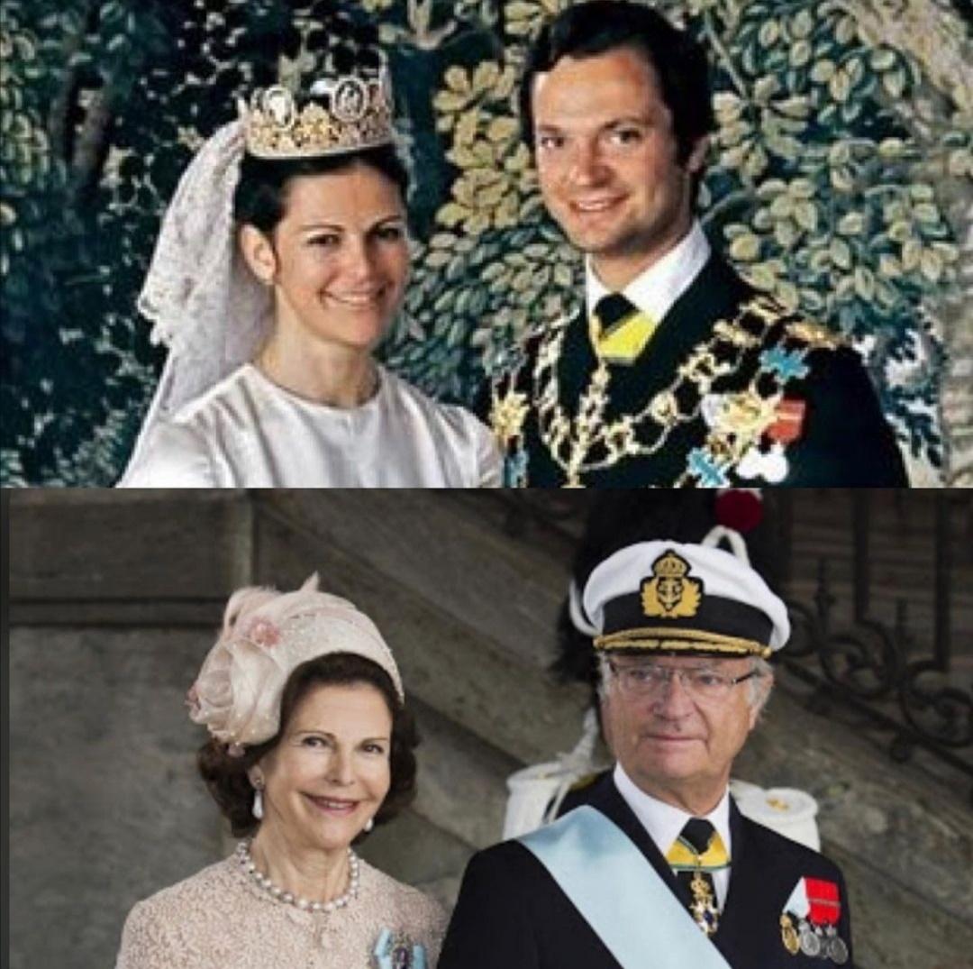 الملك كارل السادس عشر غوستاف والملكة سيلفيا سومرلاث- الصورة من حساب The Royals of todayعلى إنستغرام