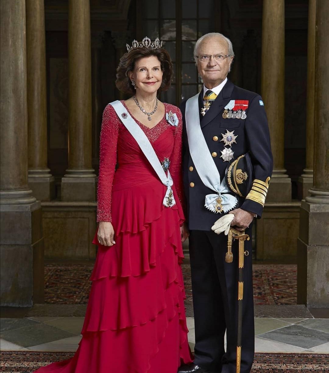 الملك كارل السادس عشر غوستاف والملكة سيلفيا سومرلاث- الصورة من حساب The Swedish royalعلى إنستغرام