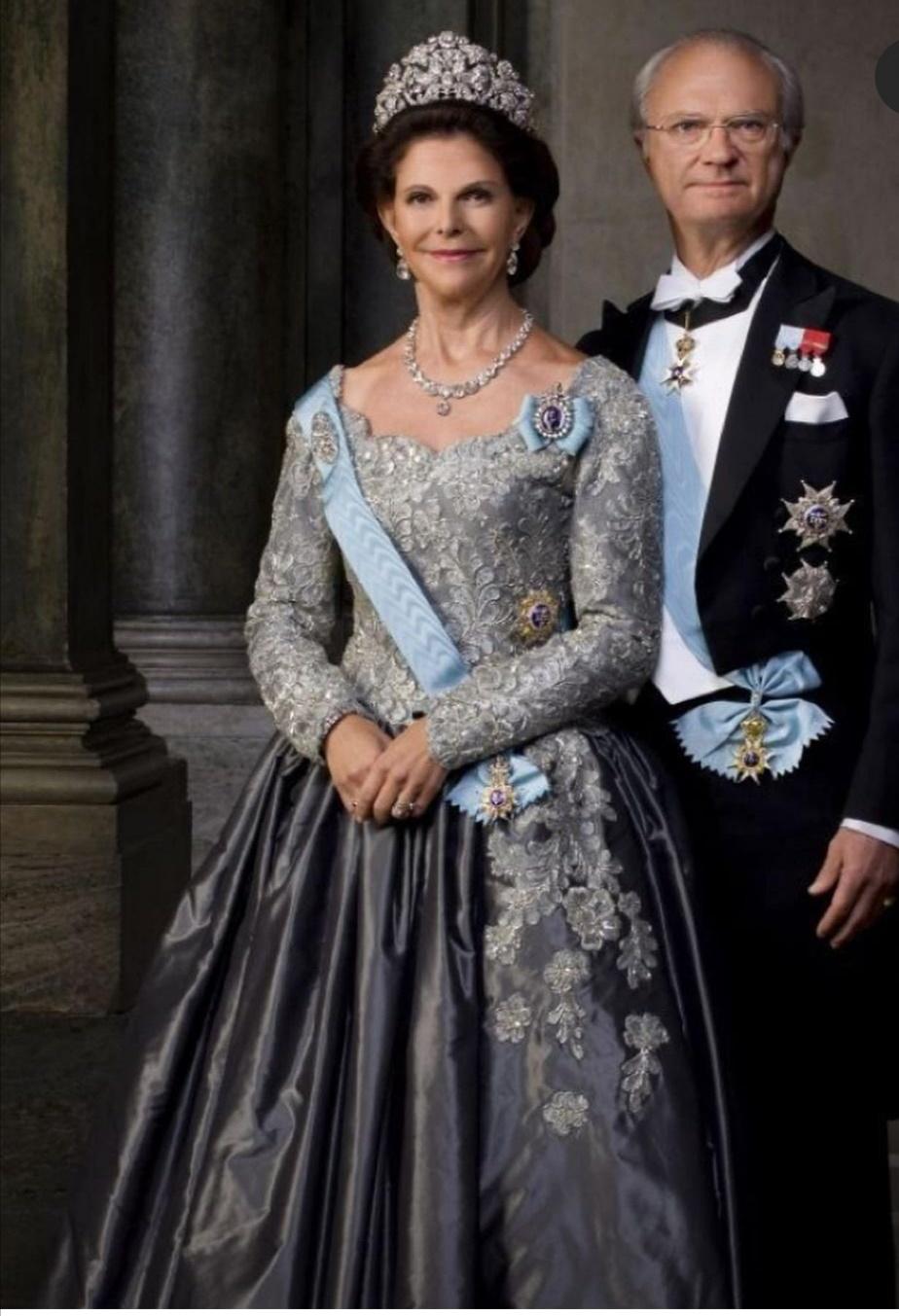 الملك كارل السادس عشر غوستاف والملكة سيلفيا سومرلاث- الصورة من حساب The Sweden royal family على إنستغرام