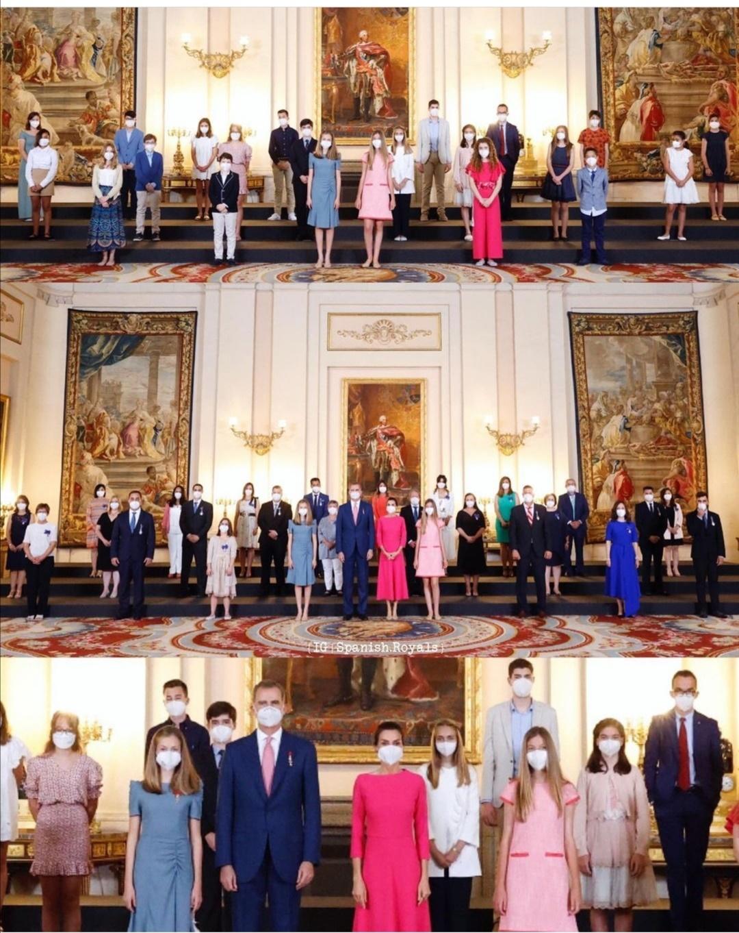 حفل خاص بمناسبة تولي الملك فيليب الحكم في القصر الملكي في مدريد- الصورة من حساب Spanish royals على إنستغرام.jpg