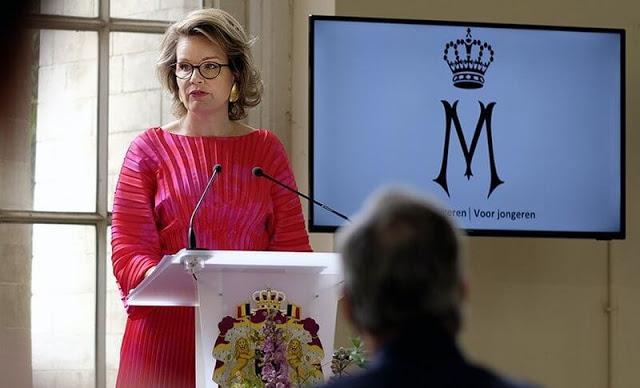 الملكة ماتيلد أثناء حفل التكريم- الصورة من موقع New my royals