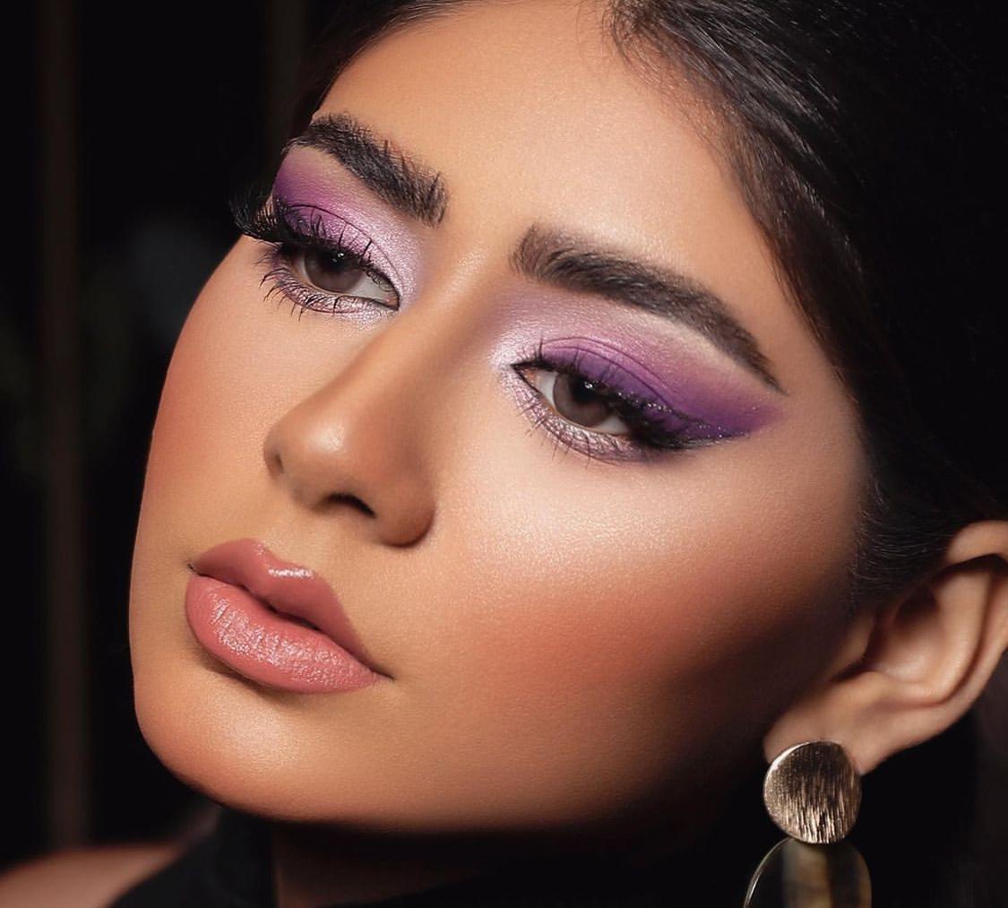 مكياج من خبيرة التجميل منى النعمان -الصورة من حسابها على الانستغرام