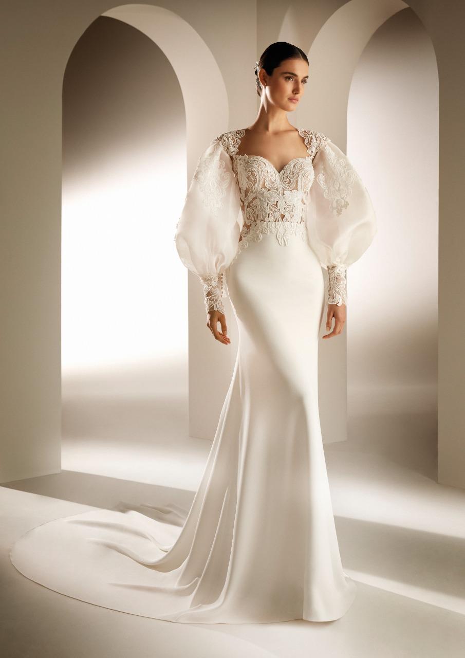 Atelier pronovias صورة ١ فستان بأكمام منفوخة