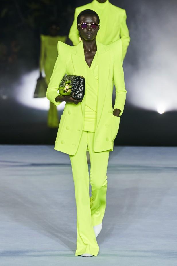بدلة نسائية خضراء من بيلمان Balmain-صورة 2