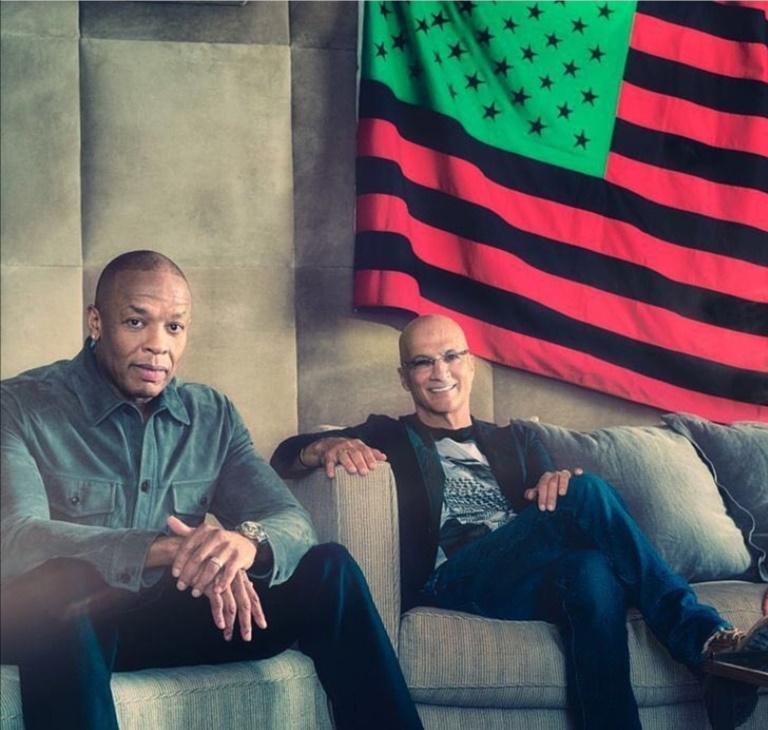 Dr.Dre وجيمي أيوفين- الصورة من حساب Dr.Dre على إنستغرام