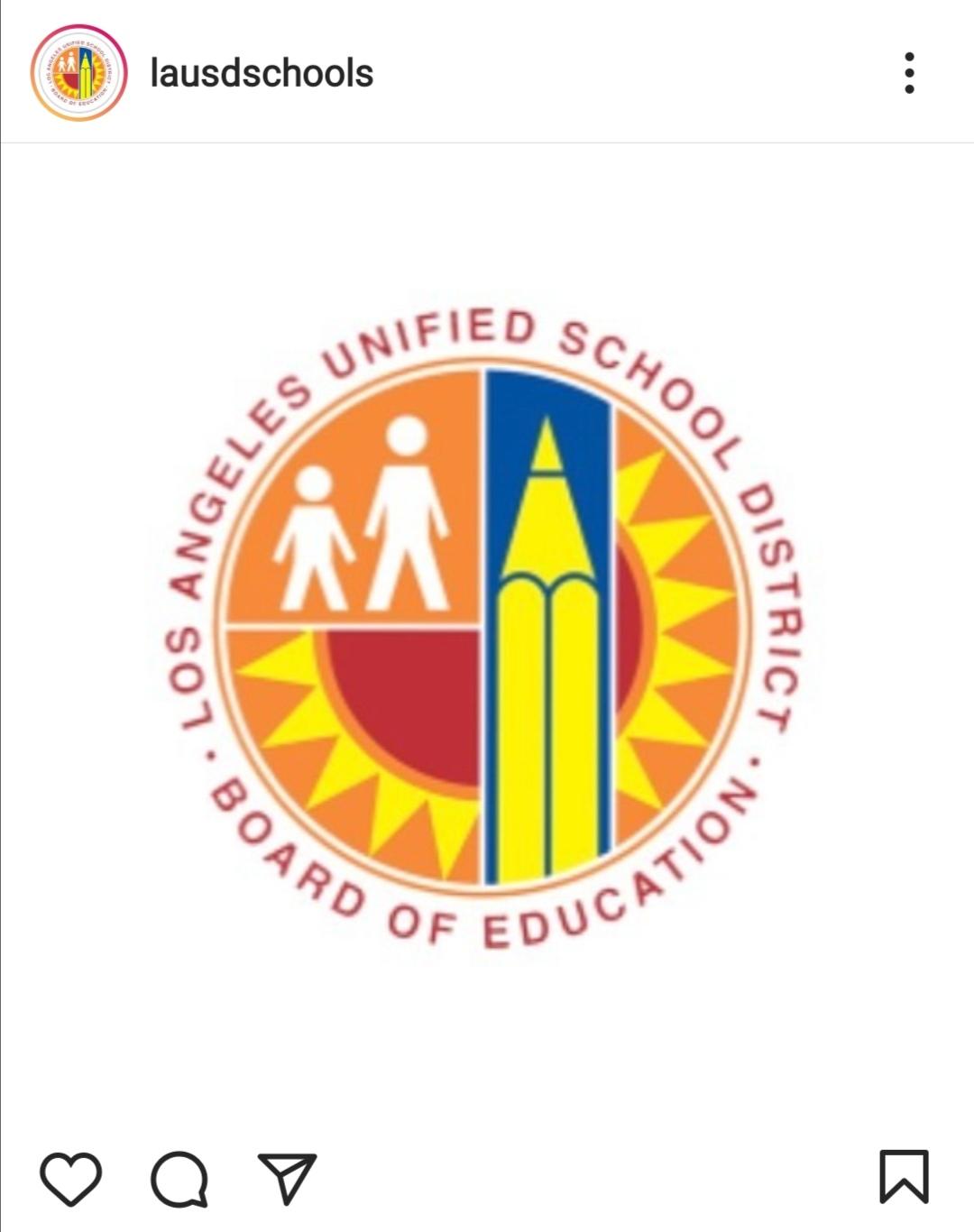 دائرة مدارس لوس أنجلوس الموحدة LAUSD- الصورة من حساب LAUSD على إنستغرام
