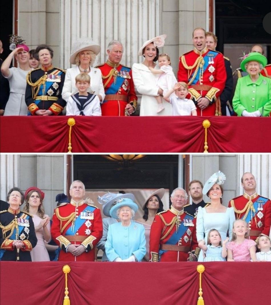 أفراد العائلة المالكة يشاهدون عرض الطيران- الصورة من حساب Royalteawithjam على إنستغرام