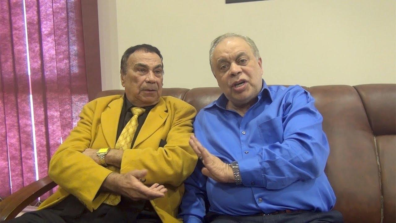 الفنان سيد مصطفى مع نقيب الممثلين أشرف زكي.. الصورة من حساب نقابة الممثلين