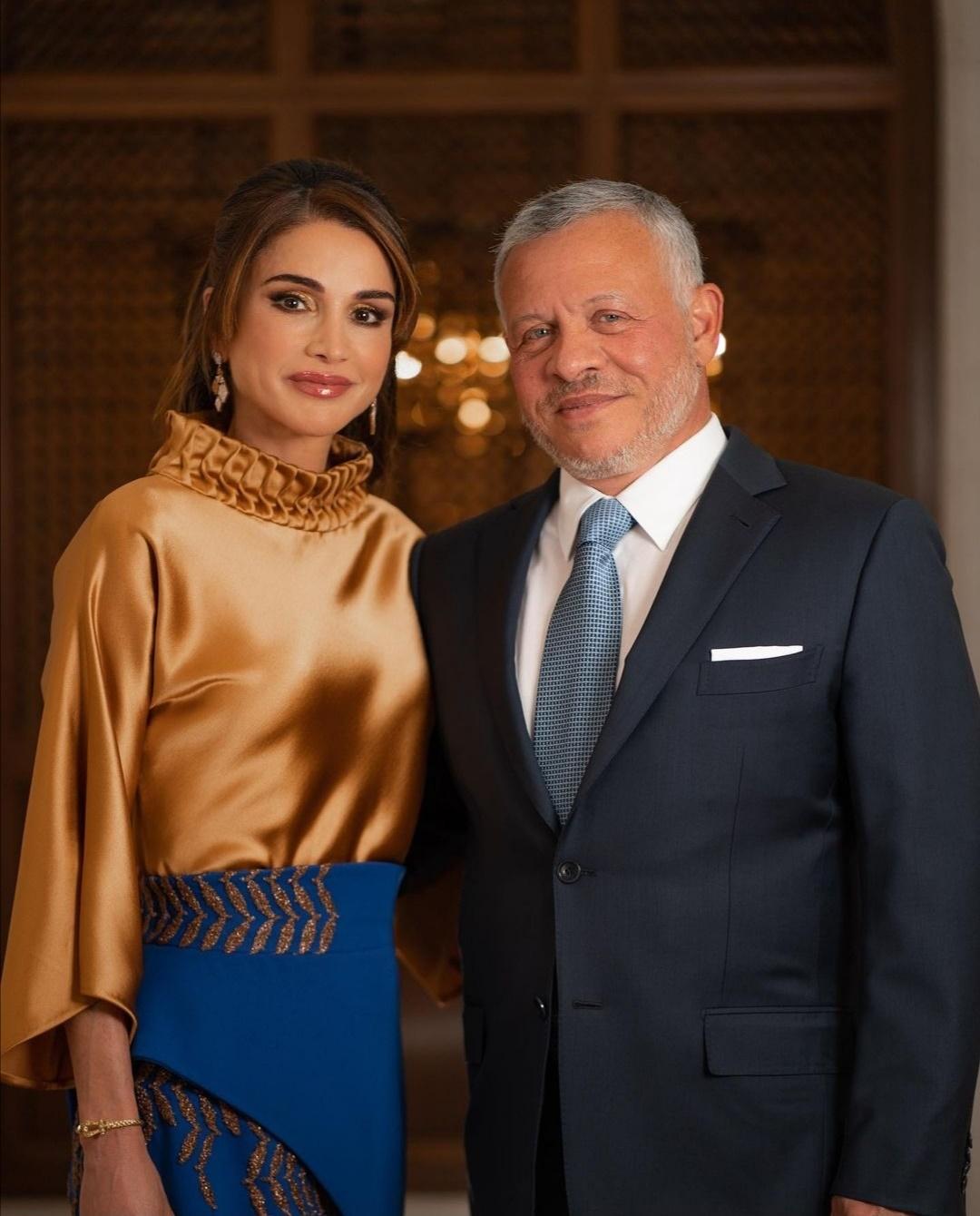 الملك عبدالله والملكة رانيا - الصورة من حساب الملكة رانيا على إنستغرام