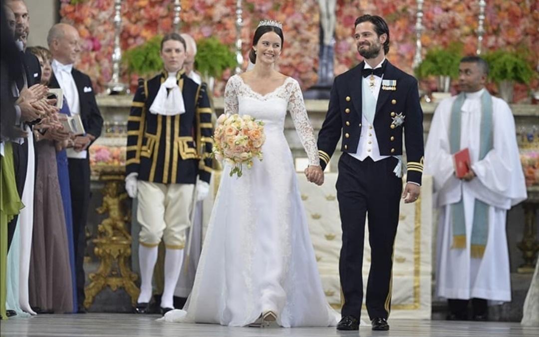 الأمير كارل فيليب والأميرة صوفيا في الكنيسة- الصورة من حساب الأمير كارل فيليب على إنستغرام