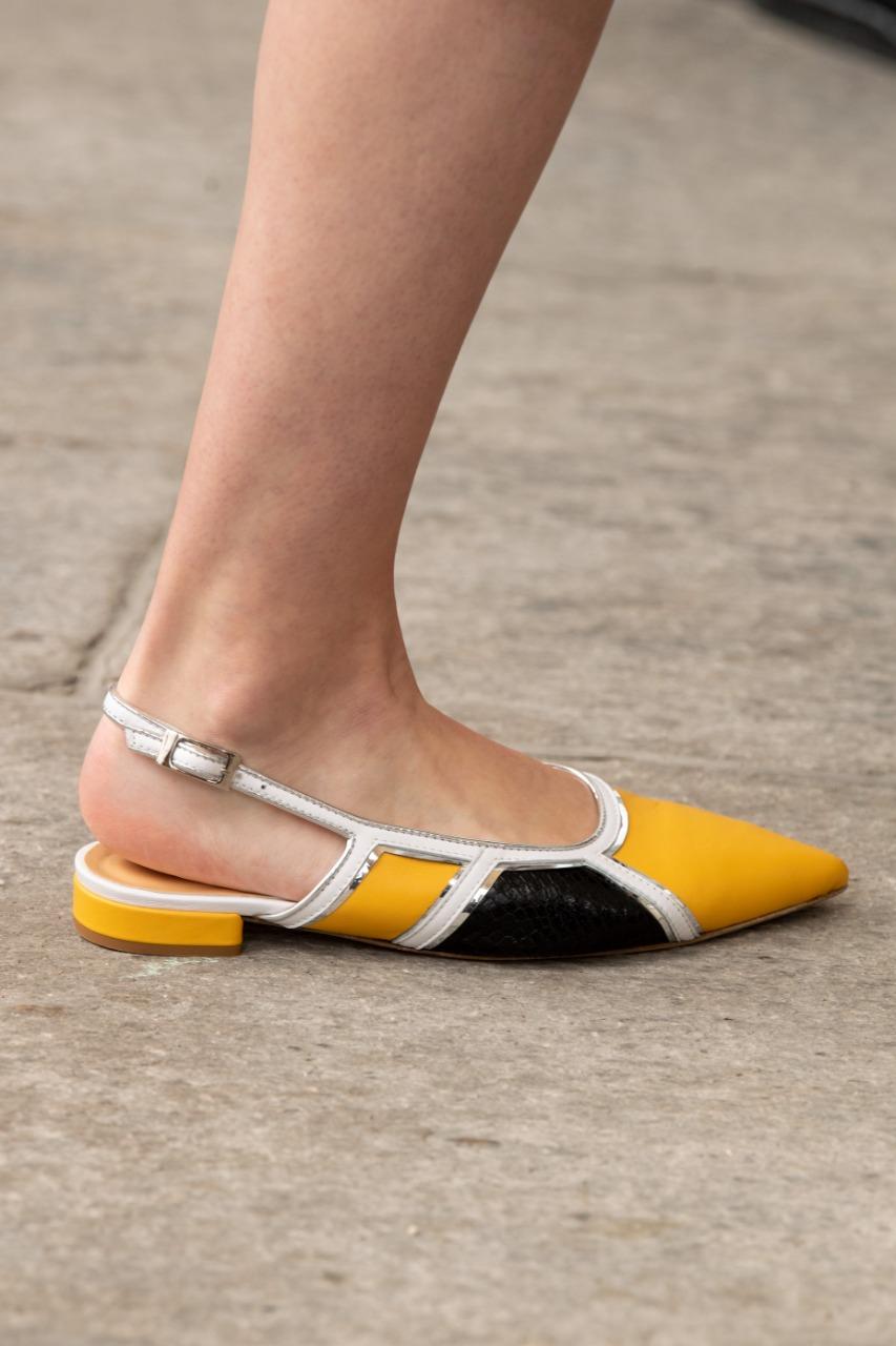 Maryling  صورة ٤ حذاء مسطّح من الجلد من