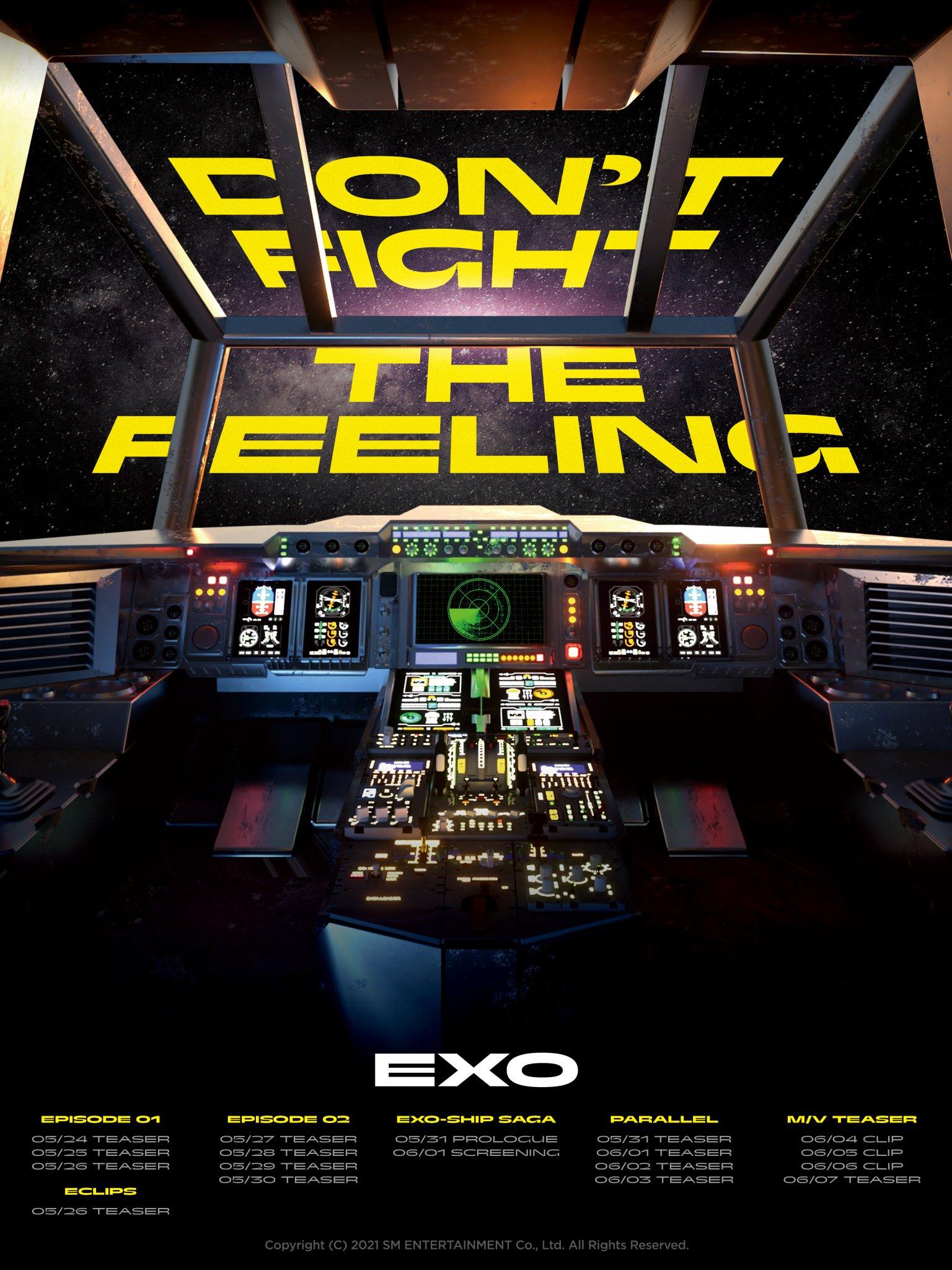 عودة EXO بأغنية Don't Fight the Feeling- الصورة من حساب EXO على تويتر