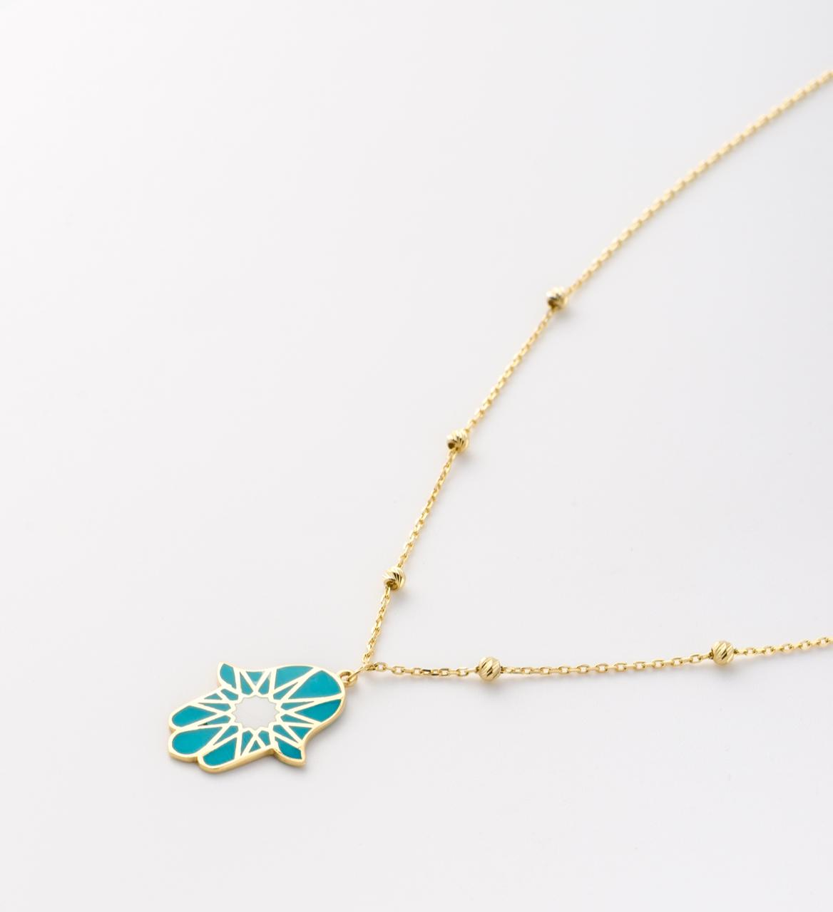 سلسلة بشكل كف من الريس للمجوهرات Alraies