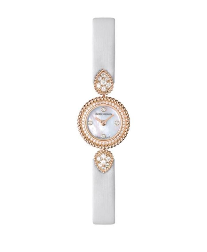 ساعة يد Serpent Boheme بيضاء من ماركة بوشرون «Boucheron»