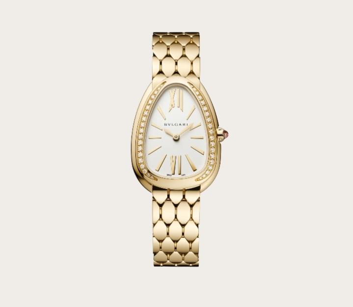ساعة يد جذابة بالذهب الأصفر من علامة بولغري Bvlgari