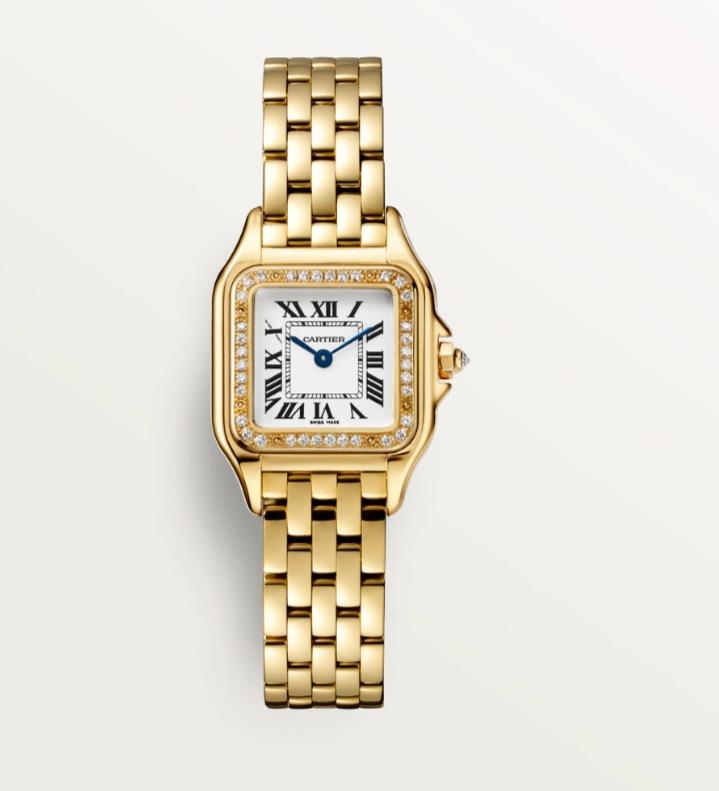 ساعة يد ساحرة بالذهب الأصفر من ماركة كارتييه Cartier