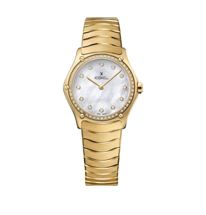 ساعة يد فاخرة بالذهب الأصفر من علامة Ebel