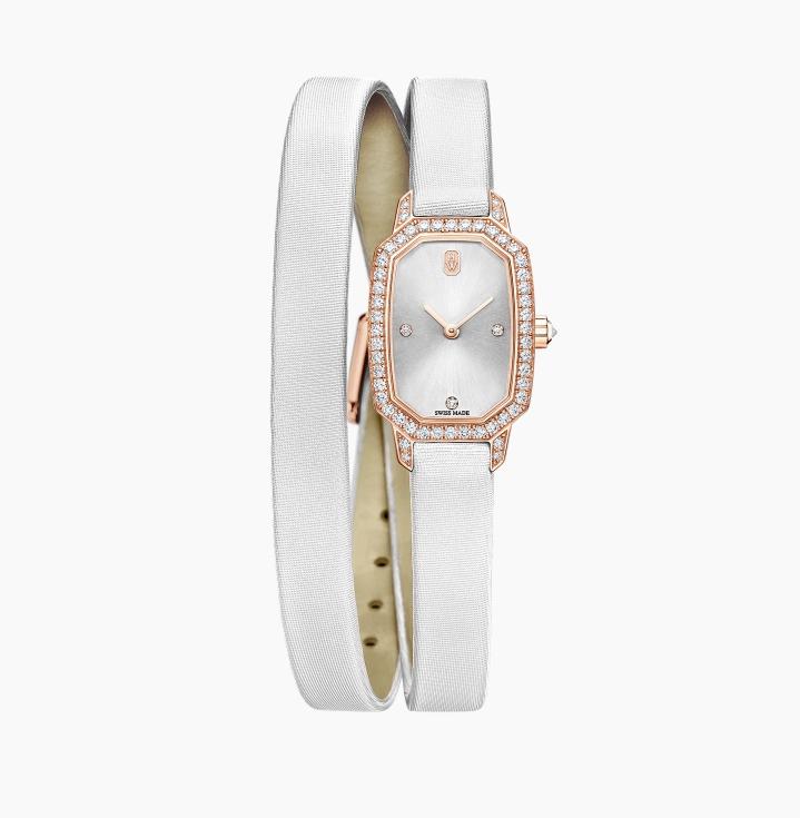ساعة يد بيضاء من علامة هاري وينستون «Harry Winston»