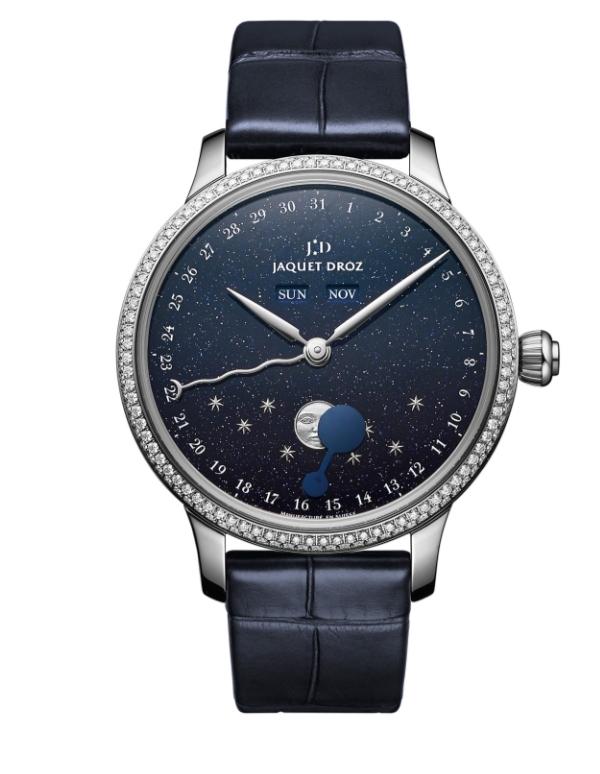 ساعة يد قمرية من علامةجاكيه دروزJaquet Droz