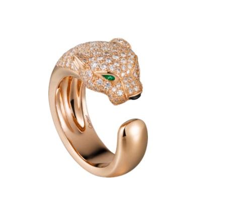 خاتم مفتوح مرصع بالزمرد والأونيكس من كارتييه Cartier