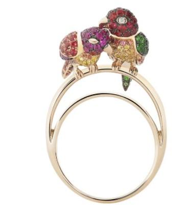 خاتم من الياقوت الوردي من بوشرون Boucheron