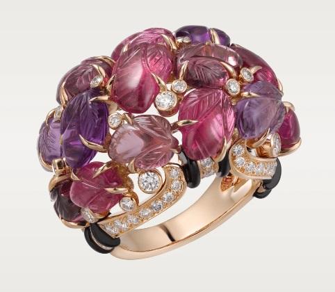خاتم ذهب ورديمُرصَّعبحجر العقيق اليماني من كارتييه«Cartier»