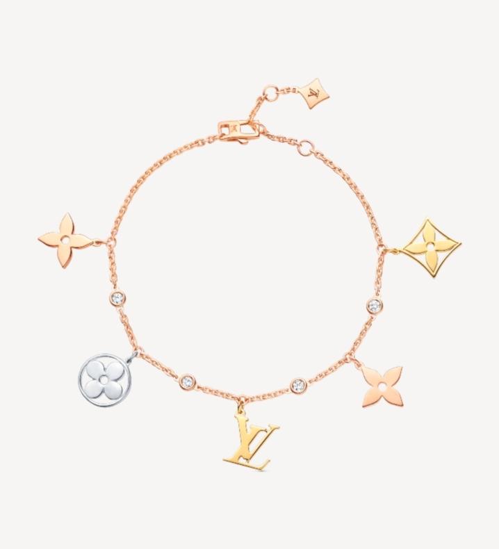 سواراً ناعماً بالذهب الوردي والألماس من ماركة لويس فيتون Louis Vuitton