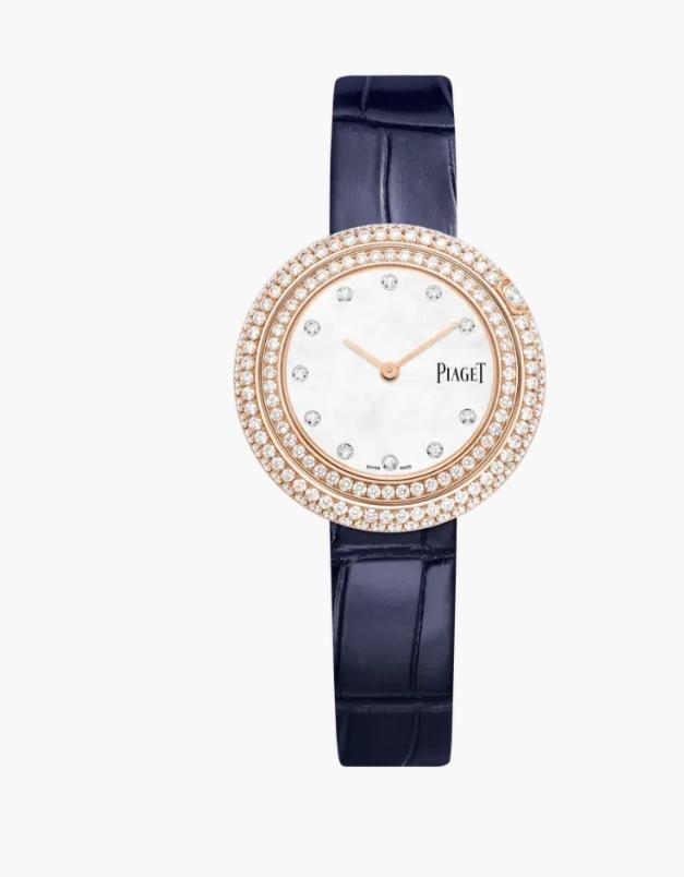 """ساعة يد ساحرة بميناء بارز من ماركة بياجيه """"Piaget"""""""
