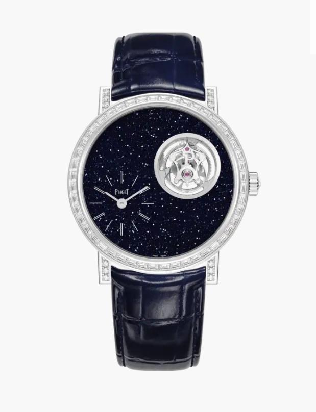 ساعة توربيون باللون الأزرق الداكن من ماركة بياجيه Piaget