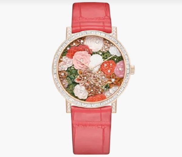 ساعة جلد ملونة من بياجيه Piaget