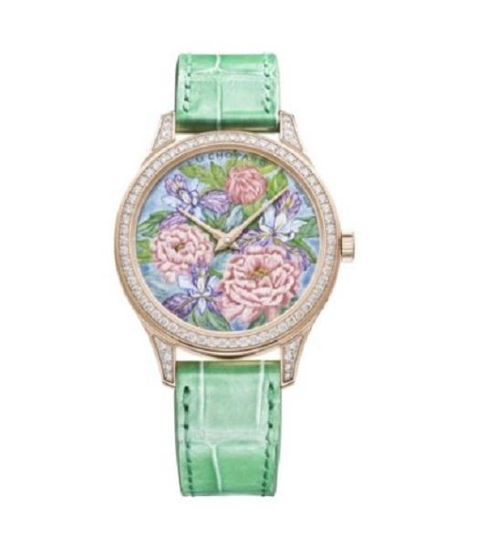 ساعة جلد ملونة من شوبارد Chopard