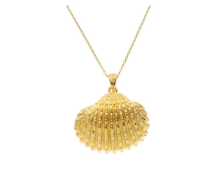 قلادة ذهب من وحي الأصداف البحرية من علامة Shell Jewellery