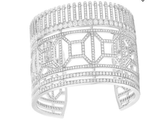 سوار عريض من الذهب الأبيض من بوشرون Boucheronأجمل مجوهرات العروس