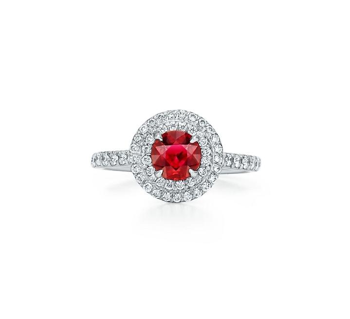 خاتم باللون الأحمر من تيفاني أند كو «Tiffany &Co»أجمل مجوهرات العروس