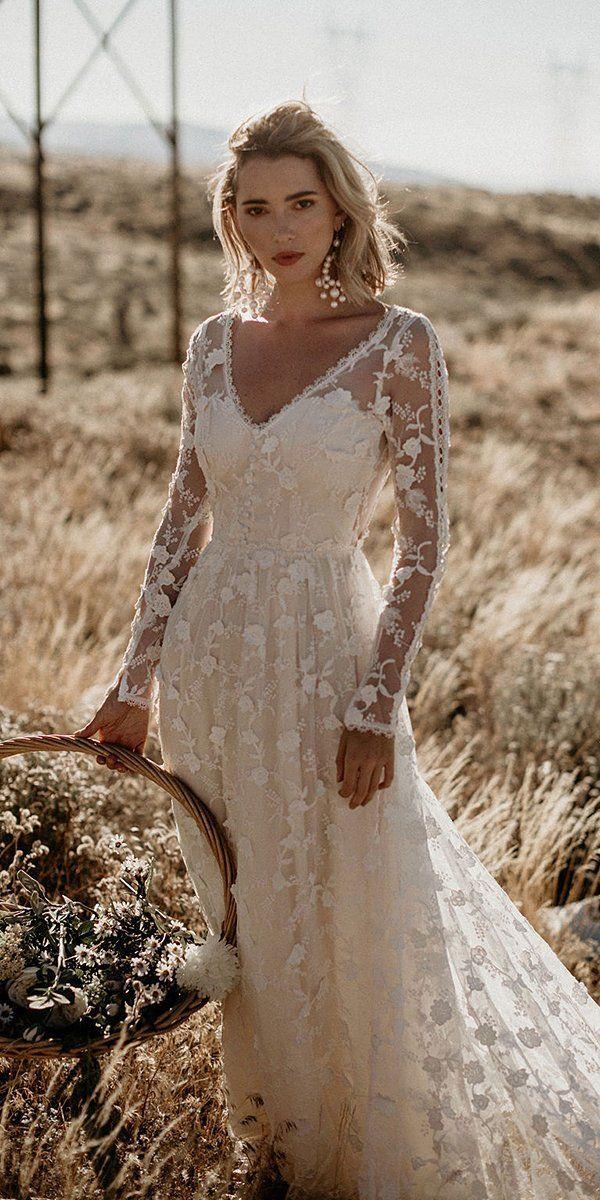 فساتين زفاف بوهيمية (الصورة من Pinterest