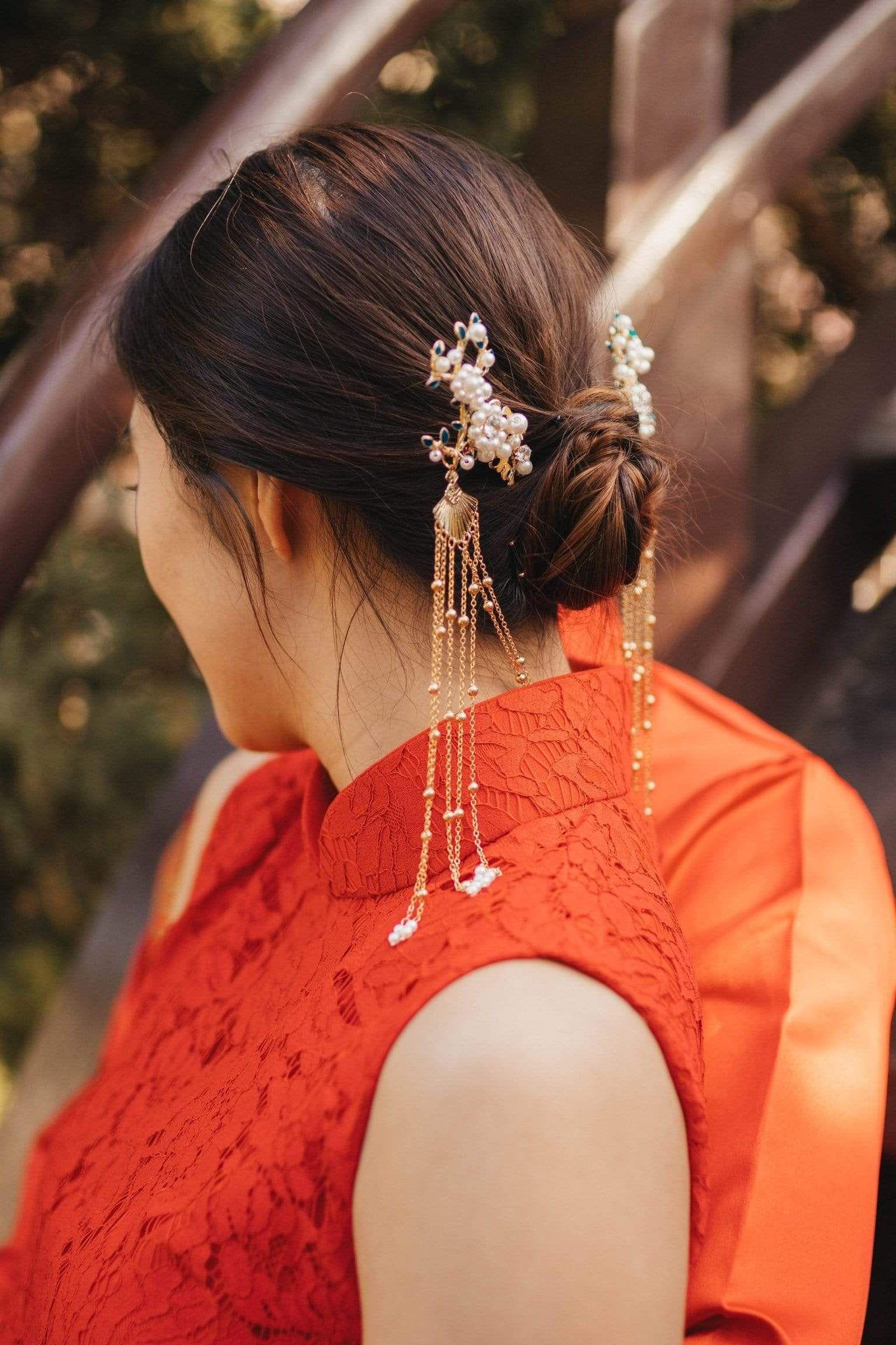 تسريحات شعر عروس صينية