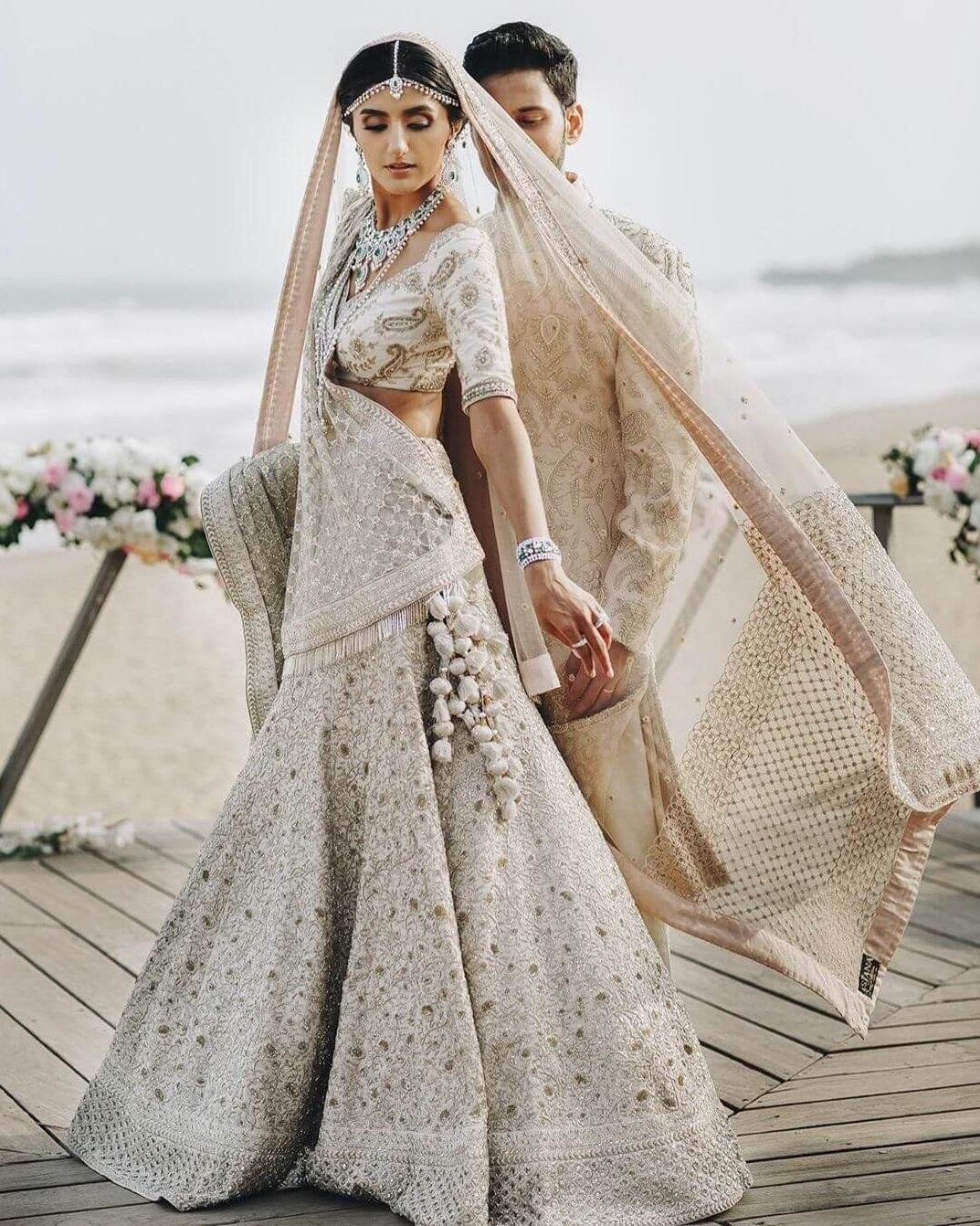 فستان هندي للأعراس بتصميم حورية البحر