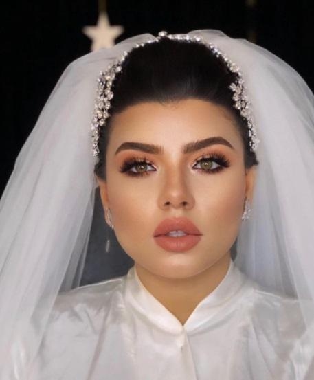 مكياج برونزي للعروس