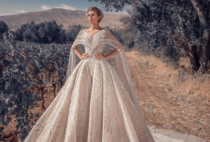 فستان زفاف تصميم زياد نكد